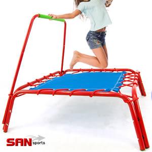 扶手彈跳床│【SAN SPORTS】方形跳跳床.彈簧床跳跳樂彈跳器.運動健身器材.便宜哪裡買專賣店