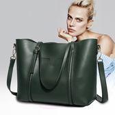牛皮單肩大包包女新款大容量托特包手提斜背包女士包包 至簡元素