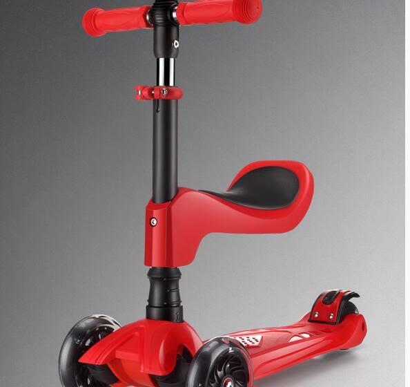 速客三合一2-4歲寶寶可坐四輪閃光加寬兒童滑板車LY765『愛尚生活館』