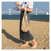 編織包 韓國ins網兜包鏤空水果環保購物袋編織手提袋海邊度假沙灘漁網包 韓菲兒