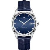 Hamilton 漢米爾頓 Jazzmaster 品味紳士經典石英手錶-藍/40mm H32451641