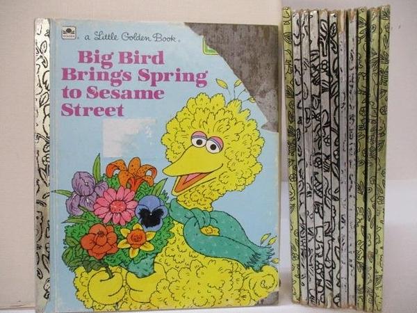 【書寶二手書T9/少年童書_HCE】Big Bird Brings Spring to Sesame Street_The Shy Little Kitten等_12本合售