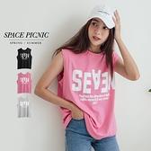 背心 Space Picnic|字母落肩無袖上衣(現+預)【C21052051】