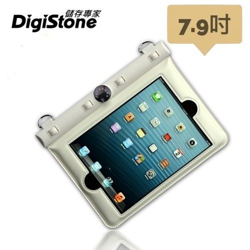 【2件85折+免運】DigiStone 平板防水袋 iPad mini 7.9吋平板電腦防水袋 保護套(溫度計型)適7.9吋以下 白x1