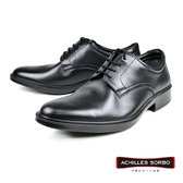 【Achilles SORBO】輕量時尚素面真皮德比紳士鞋  黑色(SRM318-BL)