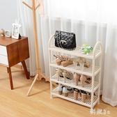日式塑料鞋架經濟型簡易多層宿舍寢室鞋子收納架現代簡約家用鞋櫃JA9425『毛菇小象』
