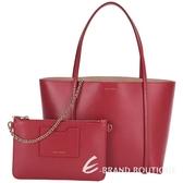 DOLCE & GABBANA ESCAPE 壓紋牛皮購物包(紅色) 1510672-54