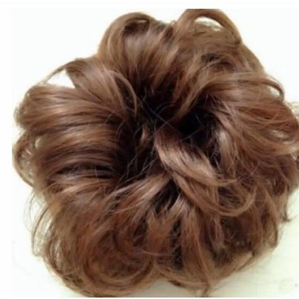假髮圈半丸子頭假髮包仿真捲髮蓬鬆自然花苞頭盤髮器假髮頭飾髮髻 開學季特惠