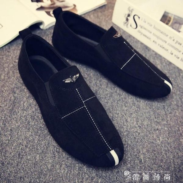 夏季男士韓版潮鞋透氣老北京布鞋一腳蹬懶人豆豆鞋社會小伙男鞋子 時尚潮流