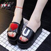 2018新款夏季女款厚底涼拖鞋家居浴室洗澡塑料厚底防滑室內居家鞋