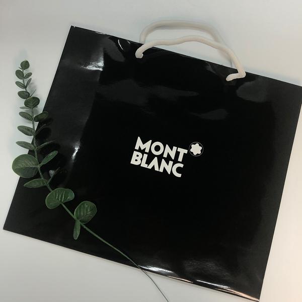 MONT BLANC 萬寶龍 精美黑色紙袋(大)【UR8D】