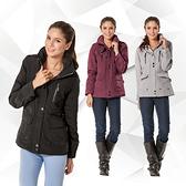 【SAMLIX 山力士】女 美國PRIMALOFT超輕暖保溫棉休閒外套(#336紅紫色.灰色.黑色)