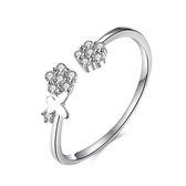 925純銀鑲鑽戒指-精美別緻優雅氣質情人節生日禮物女飾品73kz4[時尚巴黎]