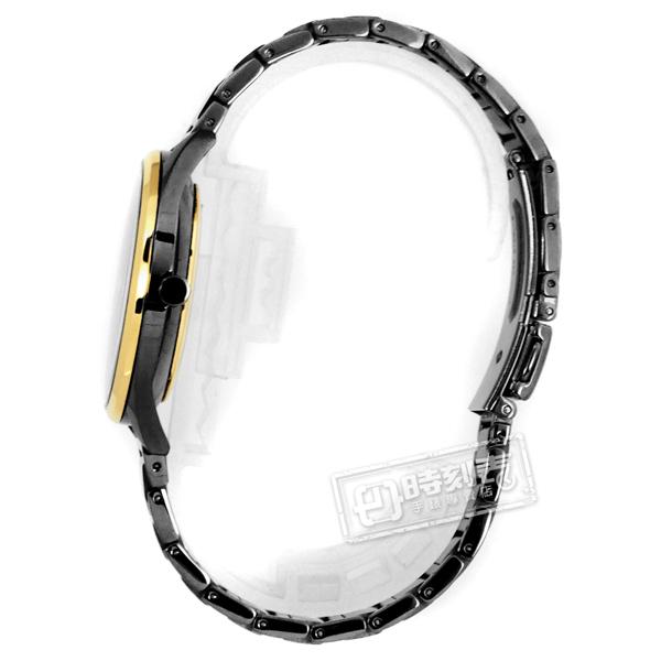 SEIKO 精工 / 6G28-00Z0K.SRKZ49P1 / 50週年紀念款 獨立秒針視窗 不鏽鋼手錶 黑x金框x鍍深灰 35mm