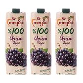 (組)土耳其meysu 100%葡萄汁1L 3入組