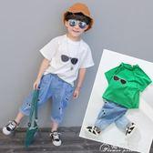 童裝男童夏裝套裝新款潮中小兒童夏季3歲寶寶6韓版短袖兩件套花間公主