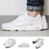 Puma 慢跑鞋 R698 Core Leather 白 全白 復古 鞋面皮革 運動鞋 男鞋【PUMP306】 36060101
