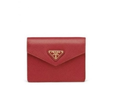 ■現貨在台■專櫃77折 ■Prada 1MC070 Saffiano皮革卡夾包 紅色