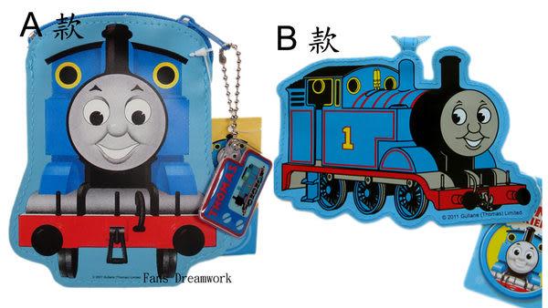 【卡漫城】Thomas 造型背帶錢包 ㊣版 拉鍊式 零錢包 票卡套 湯瑪士蒸汽小火車頭