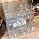 飾品收納盒歸納抽屜整理箱耳夾多層首飾盒【少女顏究院】