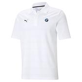 PUMA 男款白色BMW系列MMS條紋短袖Polo衫-NO.59952402
