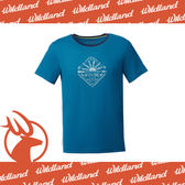 【Wildland 荒野 男 彈性棉感抗UV印花上衣《土耳其藍》】0A61610-46/吸濕排汗/抗UV/短袖★滿額送
