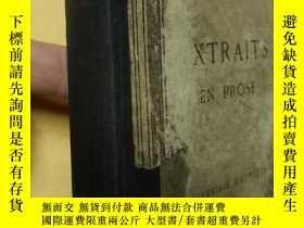 二手書博民逛書店法文原版插圖本罕見伏爾泰 Extraits en prose de Voltaire, publiés avec