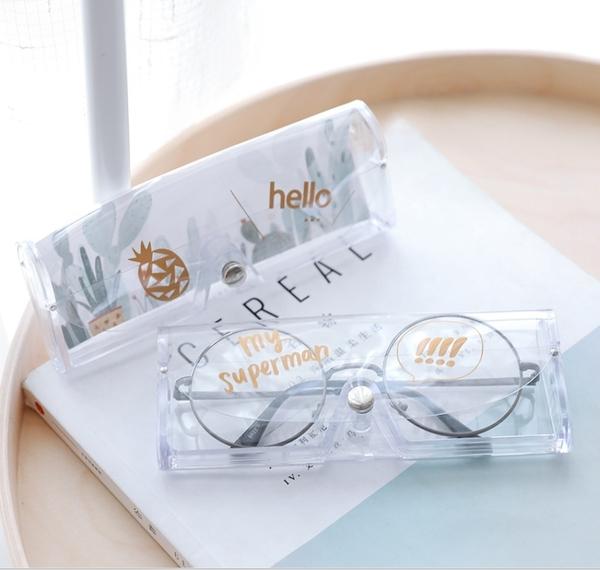 King*Shop~1264韓國可愛兒童塑料透明近視眼鏡盒卡通小清晰創意女太陽墨鏡盒