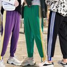 特色束腳條紋休閒運動褲/長褲/縮口褲 4色 M-5XL碼【CM65222】