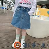 女童牛仔短裙寶寶春裝裙子兒童半身裙【淘夢屋】