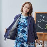 【Tiara Tiara】百貨同步 純棉排釦單色外套(藍)