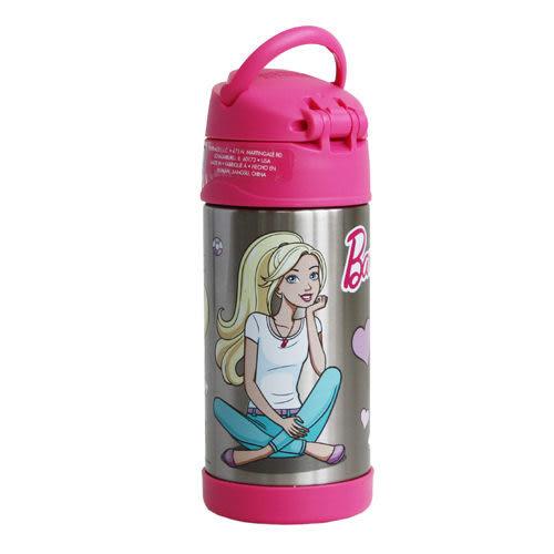 [寶媽咪親子館]【美國膳魔師 Thermos】不銹鋼兒童吸管水壺 (新芭比)兒童學習水杯-(新款有提把)