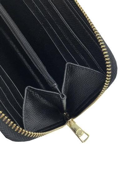 ~雪黛屋~COACH 長夾+匙國際正版保證進口防水防刮皮革U型拉鍊包覆主袋品證等10-15日C299331A