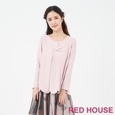【RED HOUSE 蕾赫斯】花邊蝴蝶結上衣(粉色)