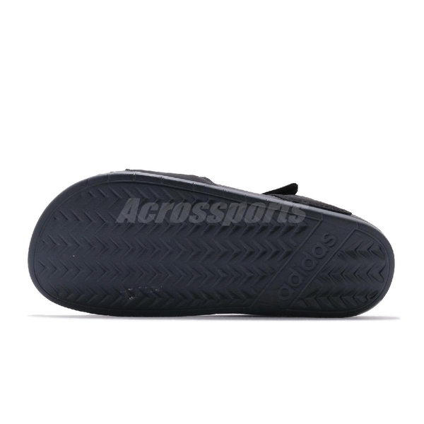 adidas 涼拖鞋 Adilette Sandal 黑 灰 女鞋 魔鬼氈 涼鞋 基本款 【ACS】 F35417