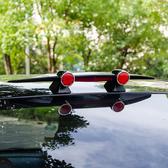 尾翼 專用於汽車迷你小尾翼 兩廂三廂SUV改裝通用個性烤漆飛機尾翼T 4色 雙12提前購