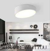 110V北歐風書房過道樓梯燈具圓形斜頂斜角極簡藝術LED衣帽間燈閣樓燈吸頂燈YGCN