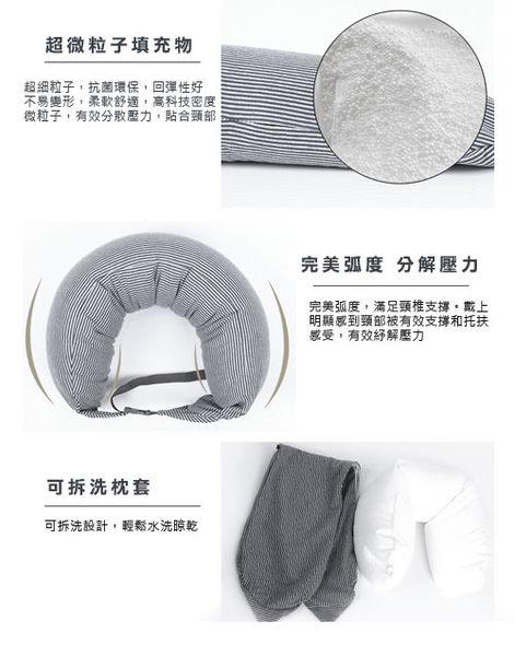 微粒貼身靠枕-可扣式微粒子頸枕