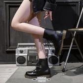 馬丁靴 英倫風女秋季薄款韓版百搭帥氣顯瘦平底短靴女機車靴子 - 古梵希