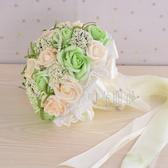 結婚花束中式韓版仿真玫瑰花紅手捧花