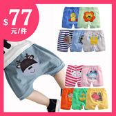 春夏嬰兒短褲5件組 純棉卡通PP褲 (AM0147) 好娃娃