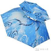 超輕碳素釣魚傘帽頭戴式傘帽雙層防曬大號帽遮陽雨  igo全網最低價
