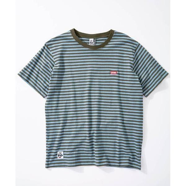 CHUMS Border T-Shirt 短袖T恤 藍/綠 CH011697A034【GO WILD】