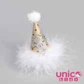 UNICO 兒童  聖誕節慶生日派對麋鹿帽子髮夾