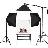 攝影棚 155瓦小型led攝影棚補光燈套裝淘寶靜物產品拍攝設備大型拍 莎拉嘿呦