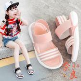 店長推薦兒童鞋子夏季女童涼鞋防滑休閒寶寶松緊沙灘鞋