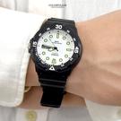 CASIO手錶 白面夜光刻度膠錶NECH4