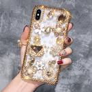 IPhone12 Pro Max 12mini iPhone11 SE2 XS Max IX XR i8 i7 Plus i6S 蘋果手機殼 水鑽殼 客製 手做 金版手提包