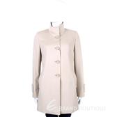MAX MARA 粉裸色立領設計釦式羊毛大衣 1430580-E2