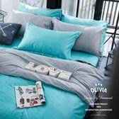 6X6.2尺加大雙人床包被套四件組【 DR830 諾亞 綠 】 素色無印系列 100% 精梳純棉 OLIVIA